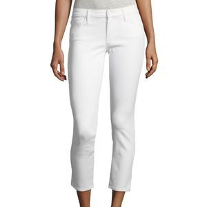 MOTHER | The Looker Crop white skinny jeans SAMPLE